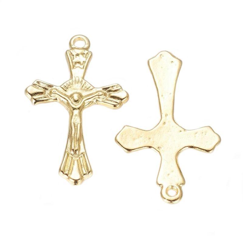 Křížek s Ježíšem 27x17 mm, zlatá