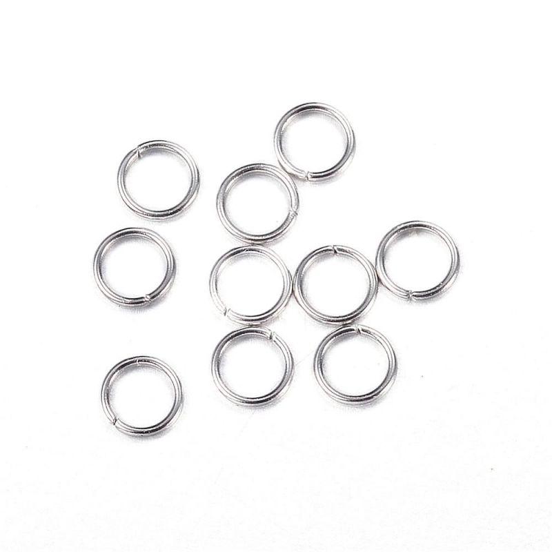 Spojovací kroužek z chirurgické oceli 304, 3x0,4 mm, 50 ks