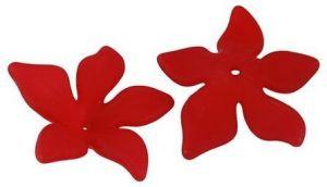 Akrylový květ  29 mm, 20 ks, červený