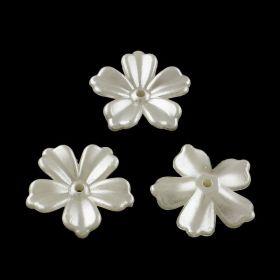 Akrylový květ perleťový 20x20 mm, 20 ks