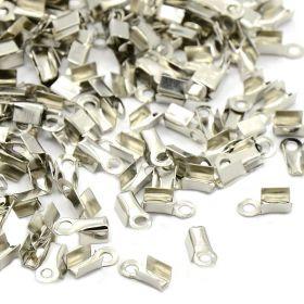 Koncovka na kůži 9x3x4 mm 100 ks, platinová