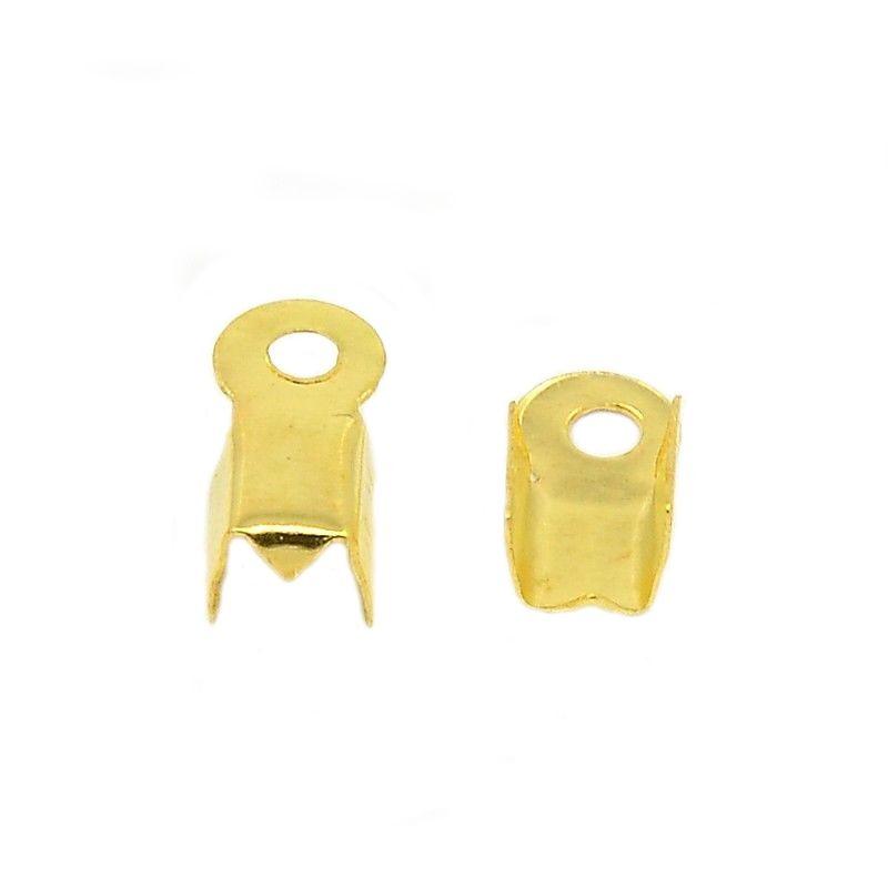 Koncovka na kůži 9x3x4 mm 100 ks, zlatá