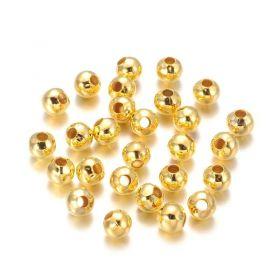 Korálek 5 mm, 50 ks, zlatý