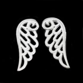 Křídla anděla 24x9,5 mm, 20 ks, stříbrná