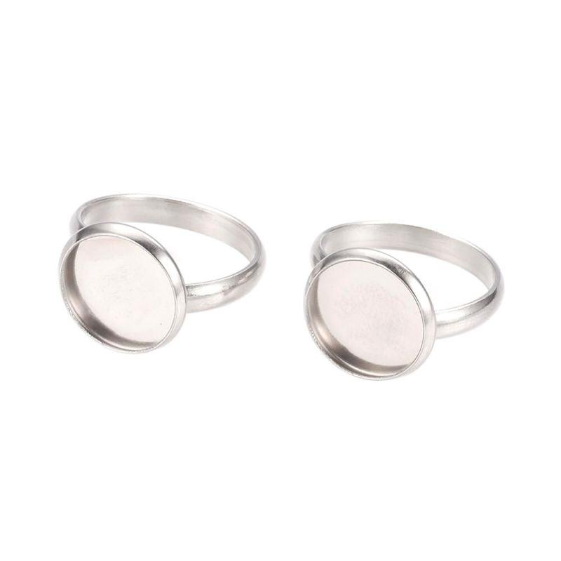 Prsten s miskou 12 mm z chirurgické oceli 304