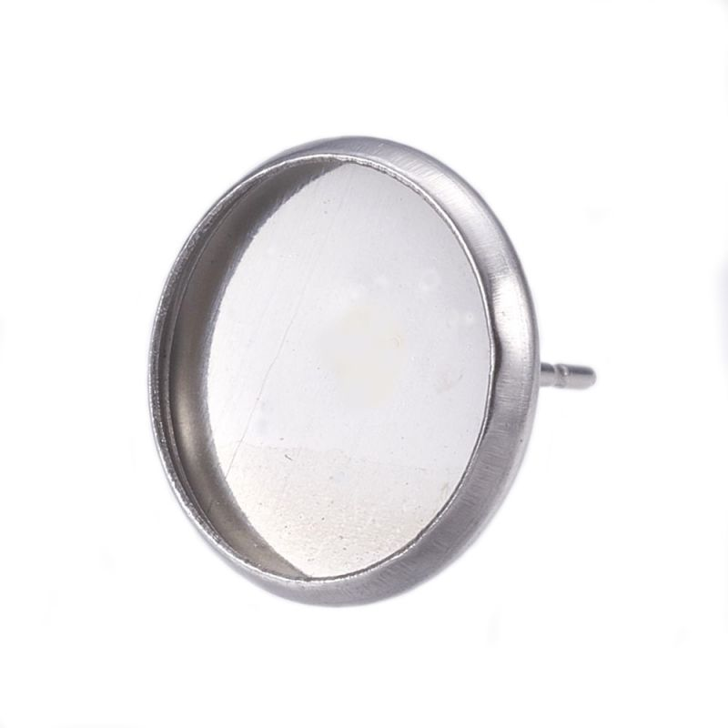 Puzeta s lůžkem 12 mm z chirurgické oceli 304, 2 ks