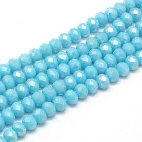 Slavík 6x4 mm, 95 ks, plnobarevná modrá s AB pokovem