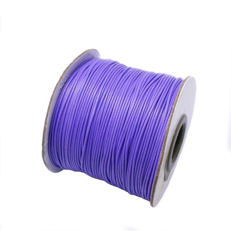 Voskovaná šňůra lesklá 1 mm, cena za 1m, modrofialová